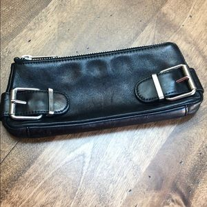 Banana republic black leather clutch